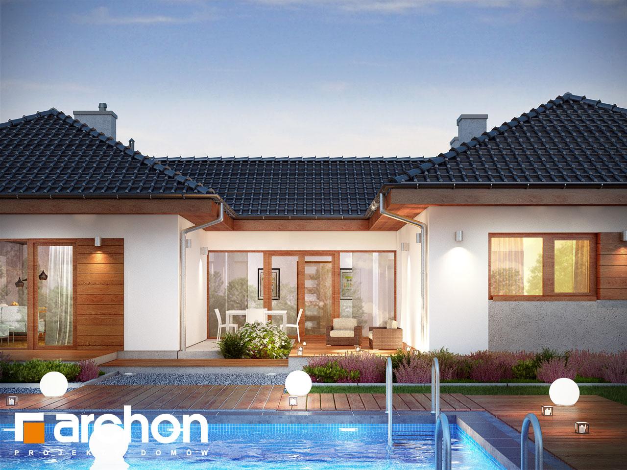 Проект будинку ARCHON+ Будинок в кампанулах додаткова візуалізація