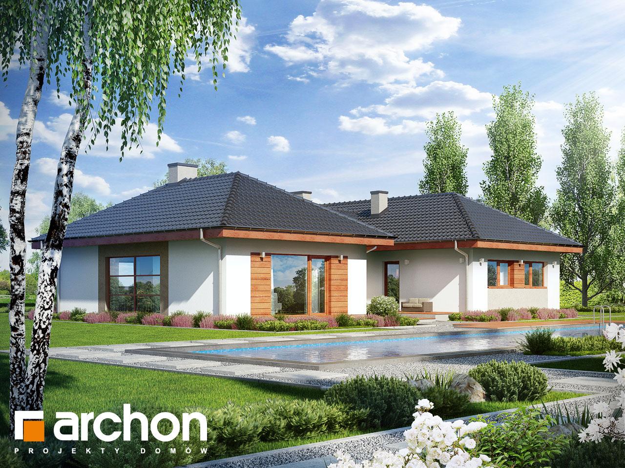 Проект будинку ARCHON+ Будинок в кампанулах Вид 2