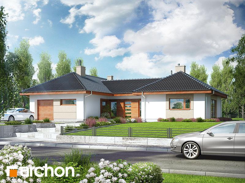 Проект будинку ARCHON+ Будинок в кампанулах Вид 1