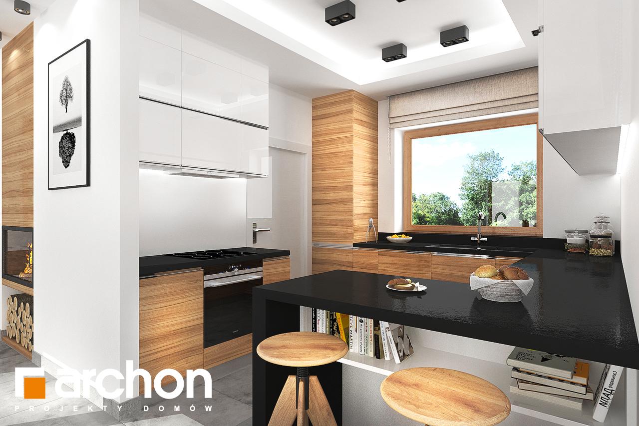 Проект будинку ARCHON+ Будинок під липкою візуалізація кухні 1 від 1