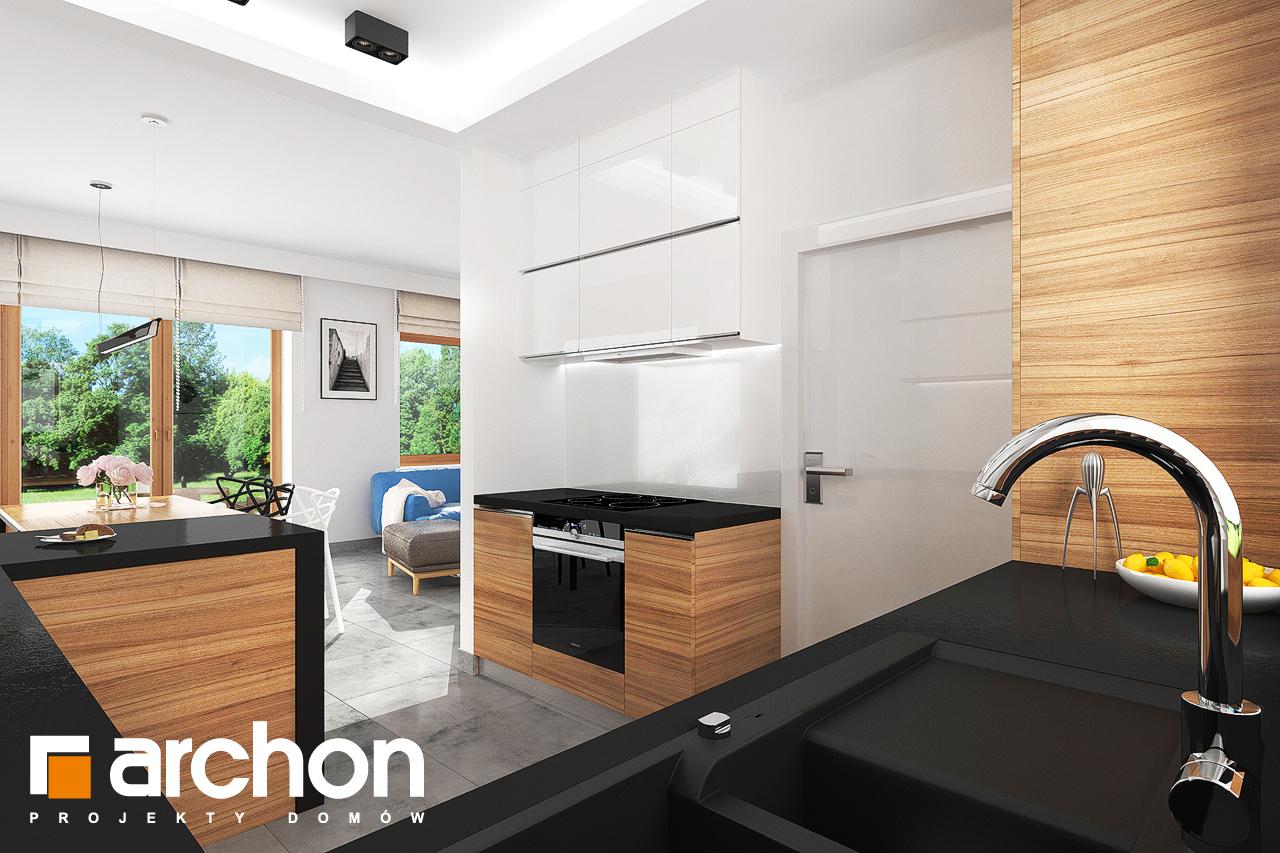 Проект будинку ARCHON+ Будинок під липкою візуалізація кухні 1 від 2