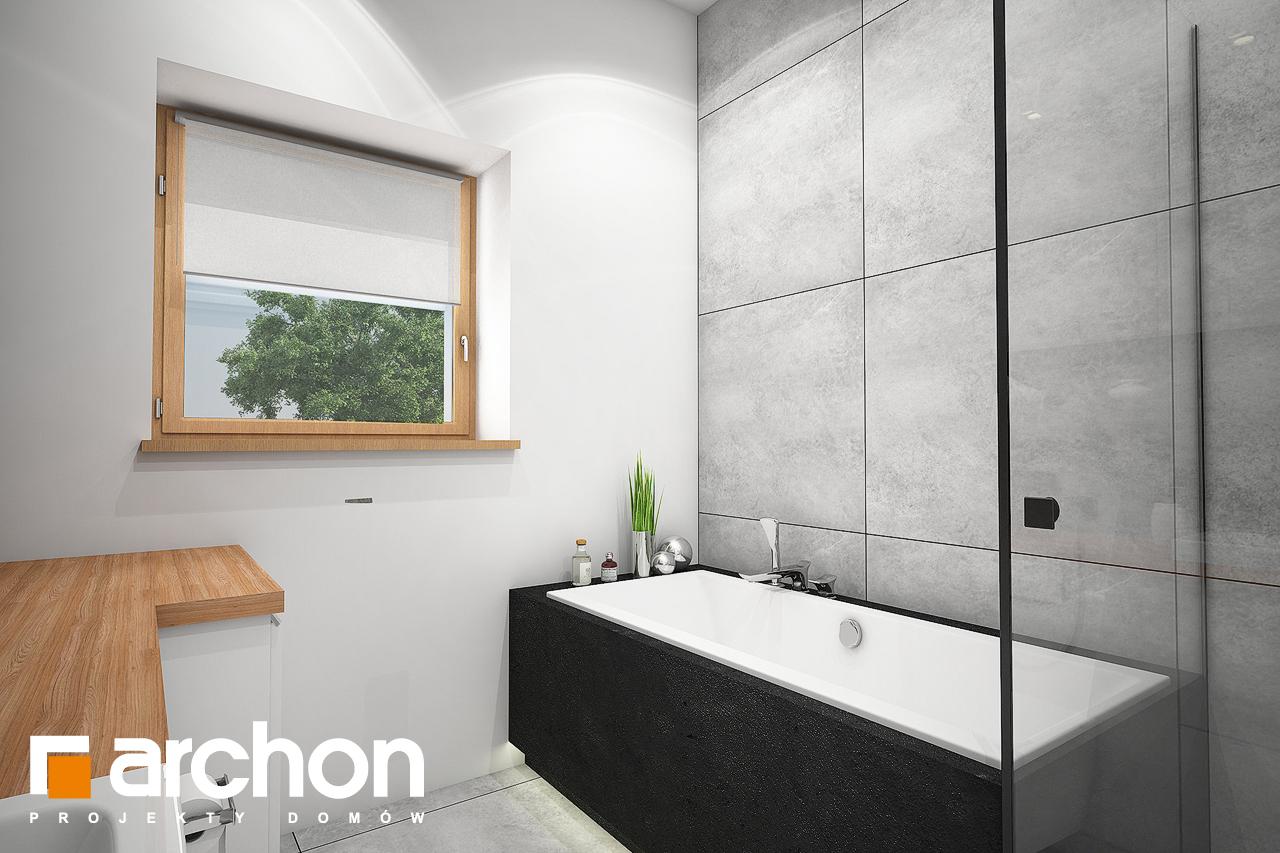 Проект будинку ARCHON+ Будинок під липкою візуалізація ванни (візуалізація 3 від 2)