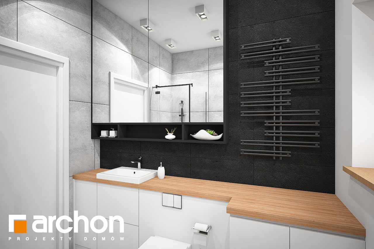 Проект будинку ARCHON+ Будинок під липкою візуалізація ванни (візуалізація 3 від 3)