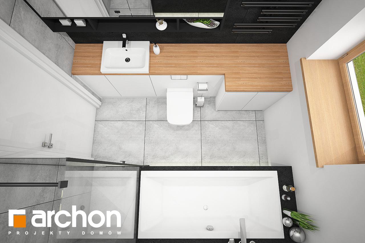 Проект будинку ARCHON+ Будинок під липкою візуалізація ванни (візуалізація 3 від 4)