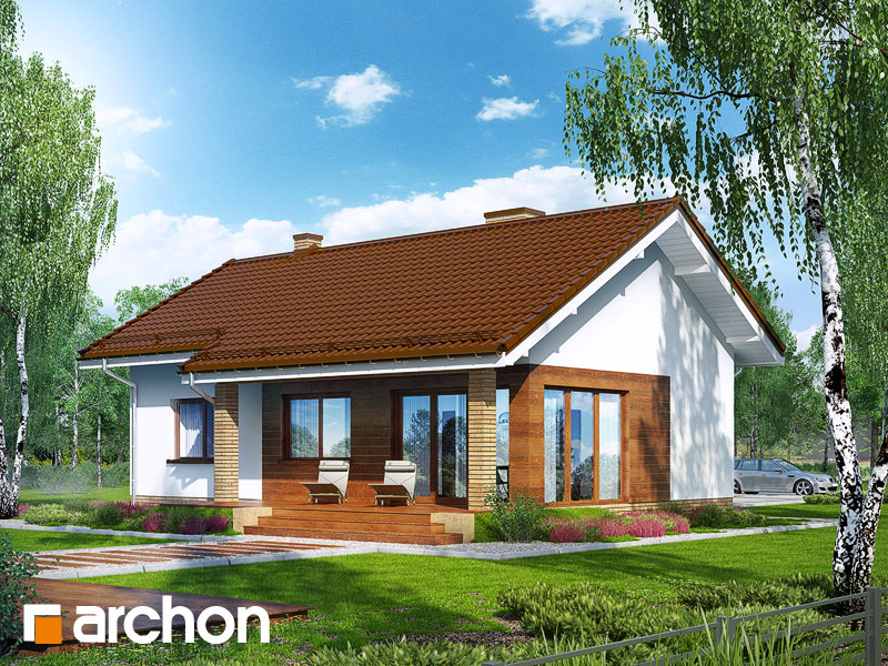 Проект будинку ARCHON+ Будинок під липкою стилізація 4