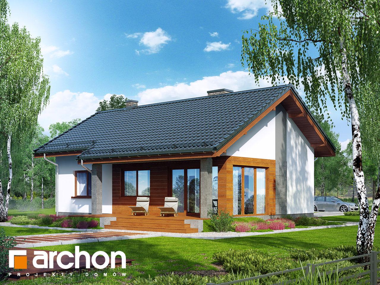 Проект будинку ARCHON+ Будинок під липкою Вид 2