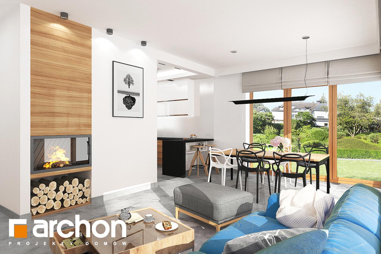 Проект будинку ARCHON+ Будинок під липкою денна зона (візуалізація 1 від 2)