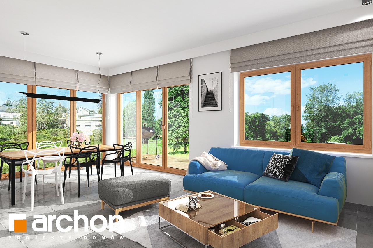 Проект будинку ARCHON+ Будинок під липкою денна зона (візуалізація 1 від 3)