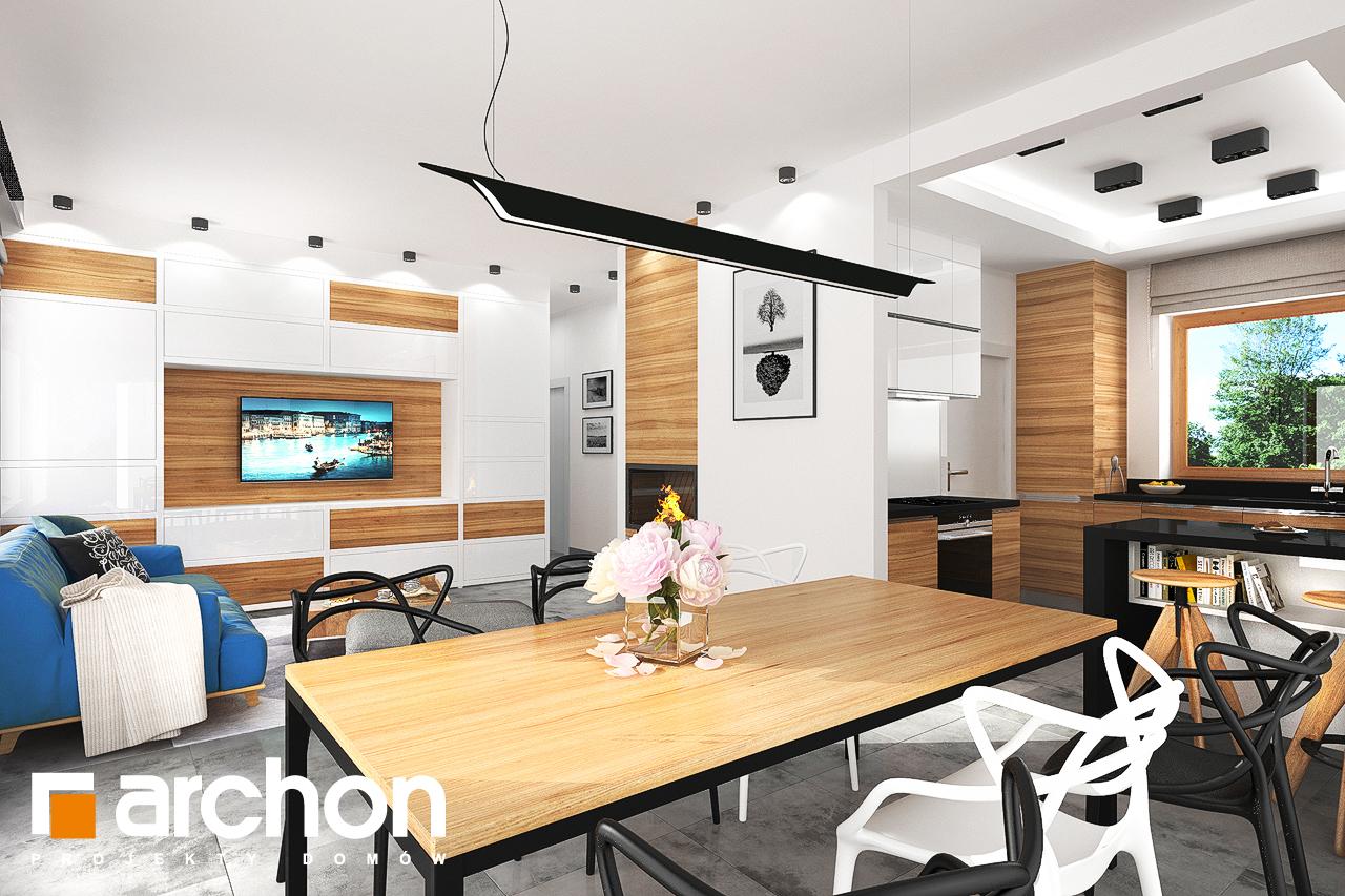 Проект будинку ARCHON+ Будинок під липкою денна зона (візуалізація 1 від 4)
