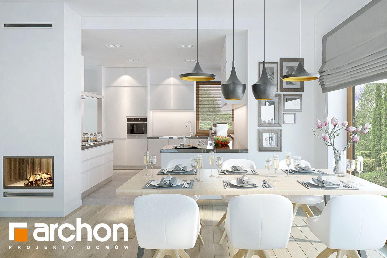 Проект будинку ARCHON+ Будинок в руколі 3 (Н) денна зона (візуалізація 1 від 2)
