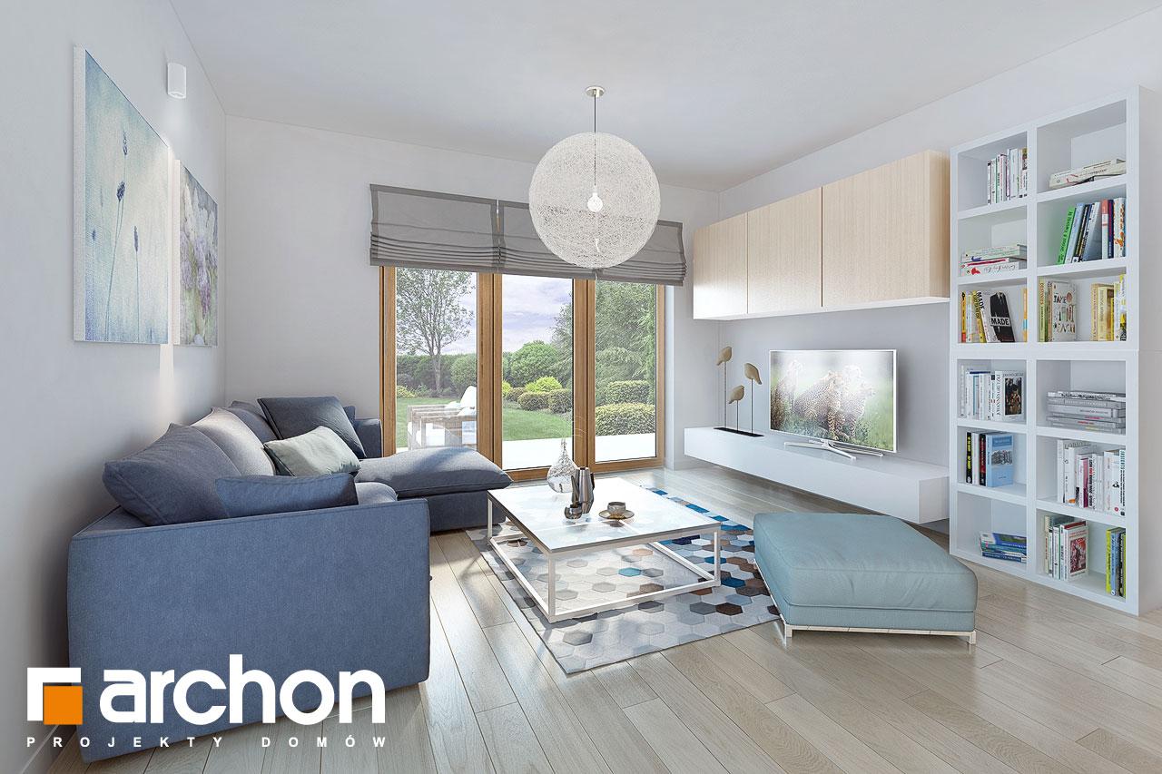 Проект будинку ARCHON+ Будинок в руколі 3 (Н) денна зона (візуалізація 1 від 4)