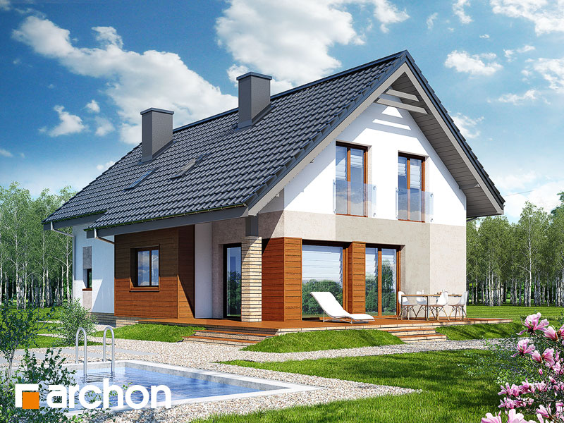 Проект будинку ARCHON+ Будинок в бугенвіліях  стилізація 4