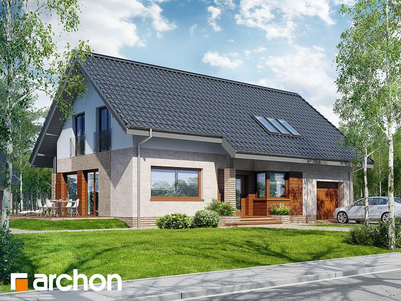 Проект дома ARCHON+ Дом в бугенвиллеях стилизация 3