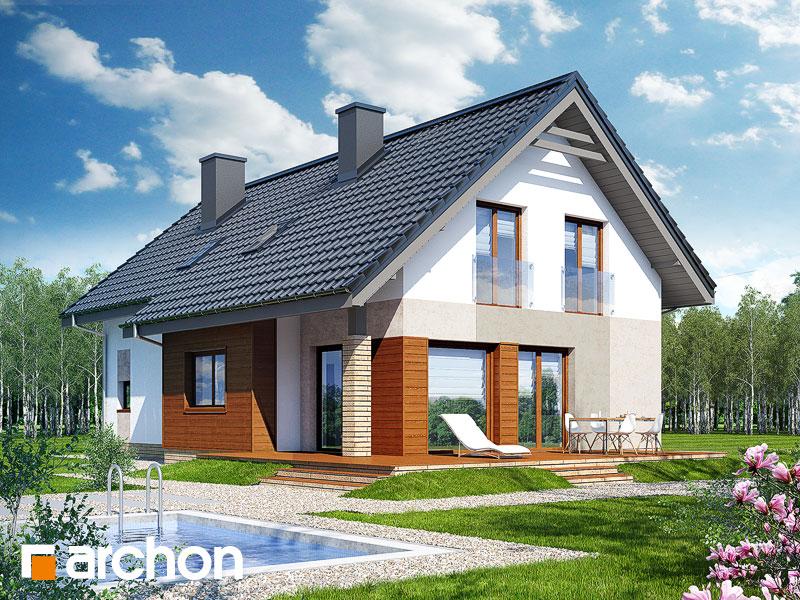 Проект дома ARCHON+ Дом в бугенвиллеях стилизация 4