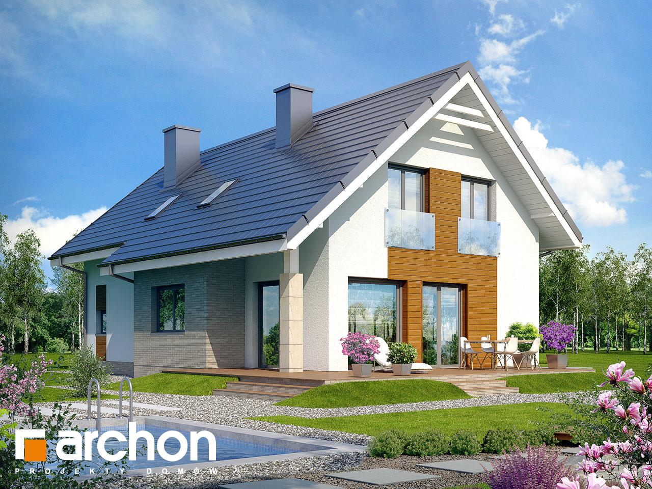 Проект дома ARCHON+ Дом в бугенвиллеях Вид 2