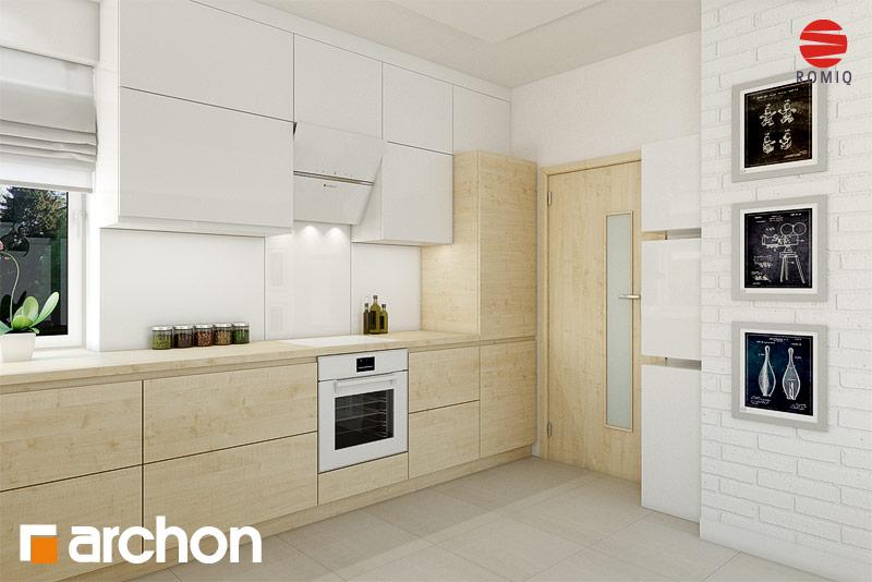 Проект дома ARCHON+ Дом в яблонках (Г2) аранжировка кухни 1 вид 2