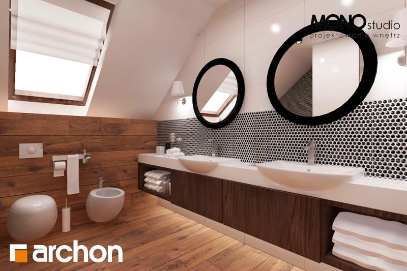 Проект будинку ARCHON+ Будинок в яблонках (Г2) візуалізація ванни (візуалізація 1 від 3)