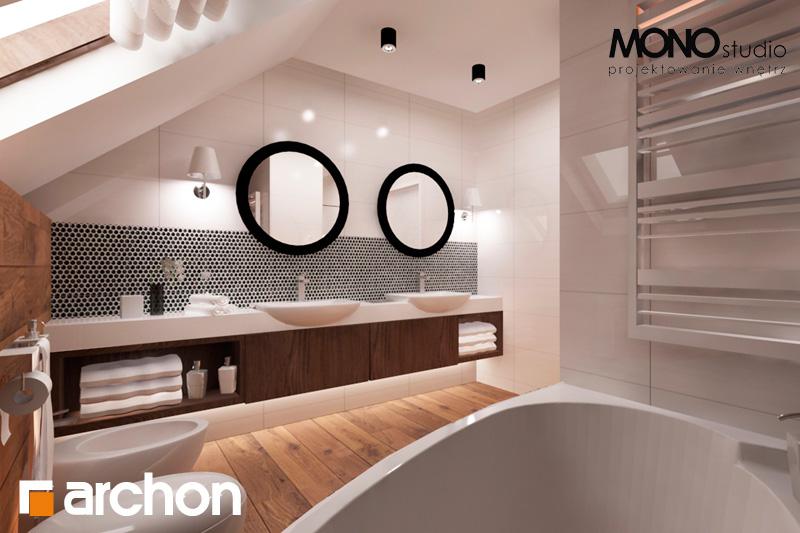 Проект дома ARCHON+ Дом в яблонках (Г2) визуализация ванной (визуализация 1 вид 1)
