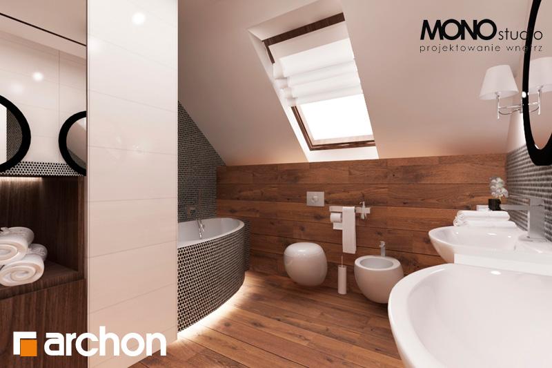 Проект дома ARCHON+ Дом в яблонках (Г2) визуализация ванной (визуализация 1 вид 4)