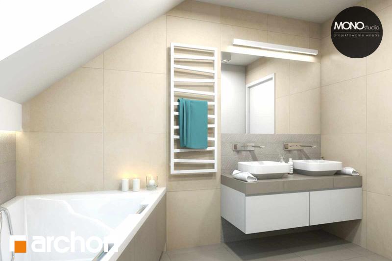 Проект будинку ARCHON+ Будинок в яблонках (Г2) візуалізація ванни (візуалізація 3 від 2)