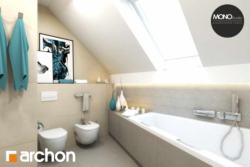 Проект будинку ARCHON+ Будинок в яблонках (Г2) візуалізація ванни (візуалізація 3 від 3)