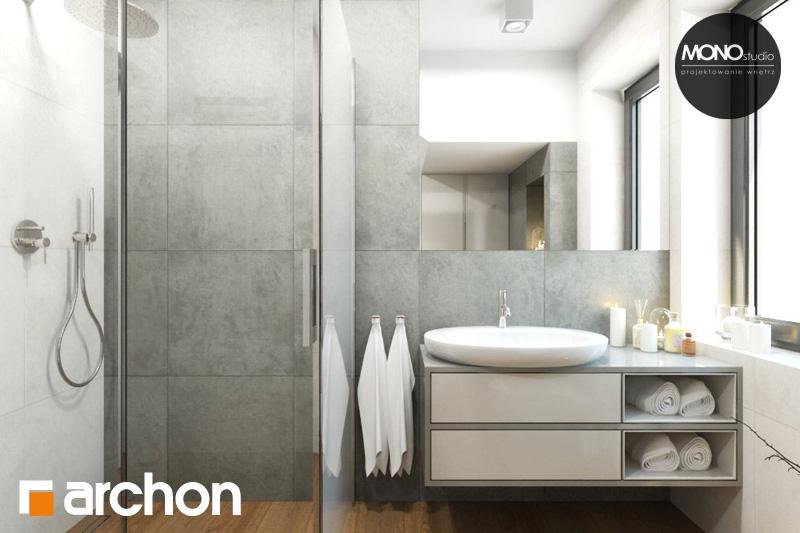 Проект будинку ARCHON+ Будинок в яблонках (Г2) візуалізація ванни (візуалізація 4 від 3)