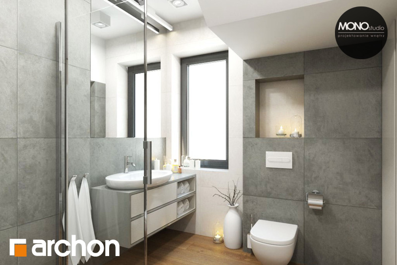 Проект дома ARCHON+ Дом в яблонках (Г2) визуализация ванной (визуализация 4 вид 5)
