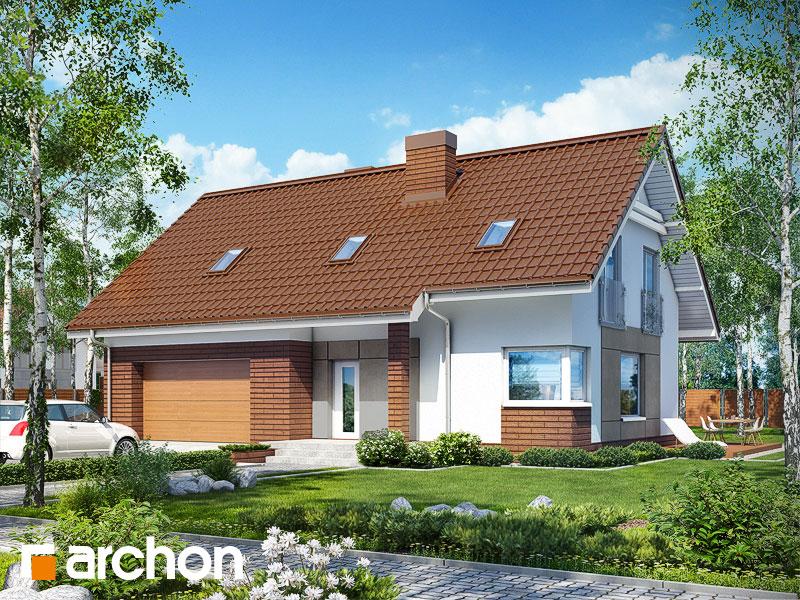 Проект будинку ARCHON+ Будинок в яблонках (Г2) стилізація 3