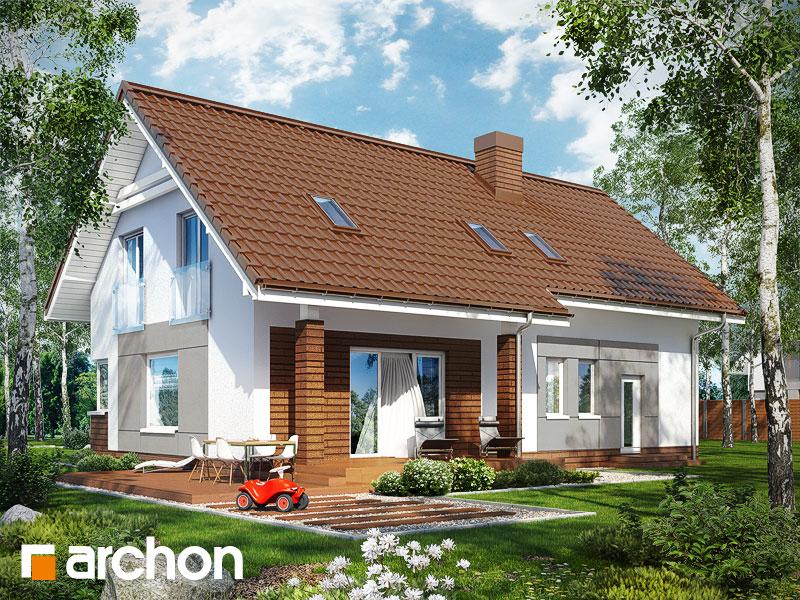 Проект будинку ARCHON+ Будинок в яблонках (Г2) стилізація 4