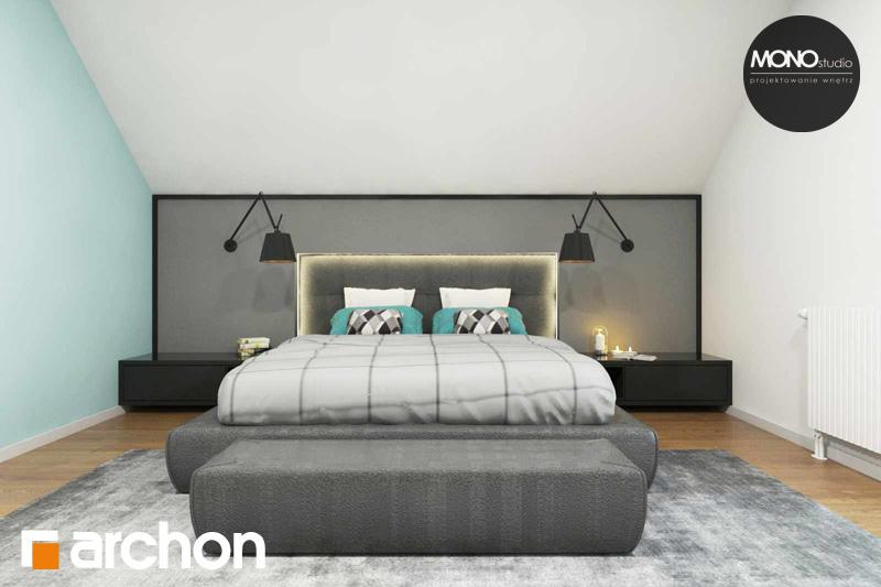 Проект дома ARCHON+ Дом в яблонках (Г2) ночная зона (визуализация 1 вид 2)