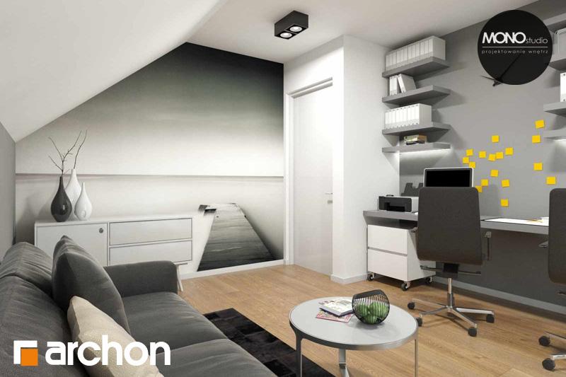 Проект будинку ARCHON+ Будинок в яблонках (Г2) нічна зона (візуалізація 2 від 5)