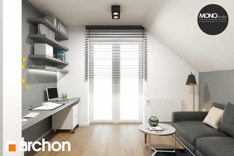 Проект дома ARCHON+ Дом в яблонках (Г2) ночная зона (визуализация 2 вид 1)