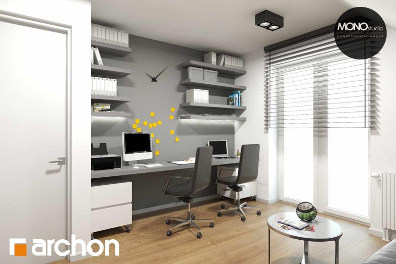 Проект дома ARCHON+ Дом в яблонках (Г2) ночная зона (визуализация 2 вид 3)