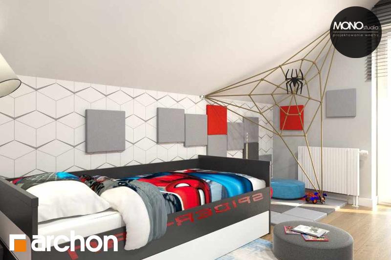 Проект дома ARCHON+ Дом в яблонках (Г2) ночная зона (визуализация 3 вид 1)