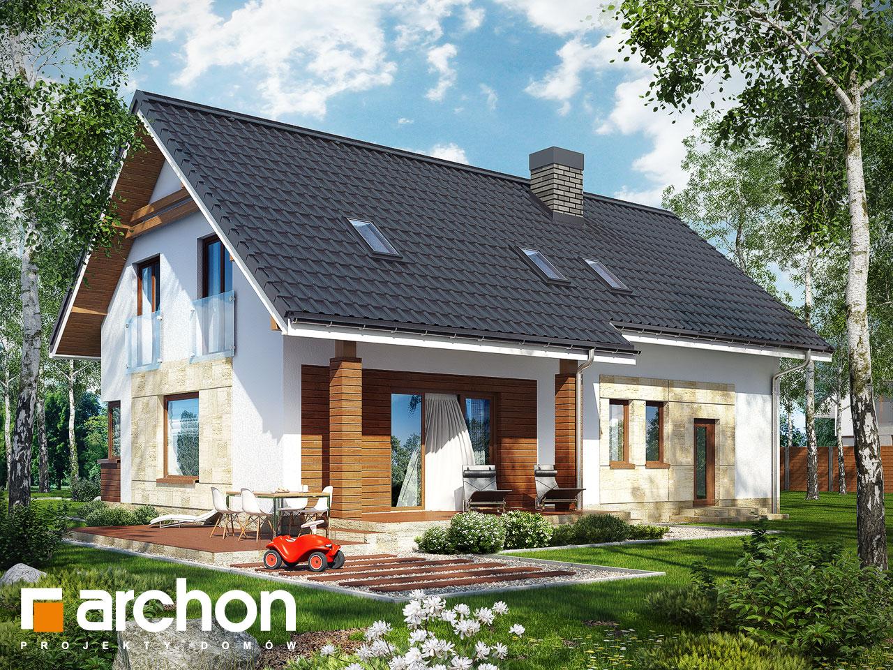 Проект будинку ARCHON+ Будинок в яблонках (Г2) Вид 2
