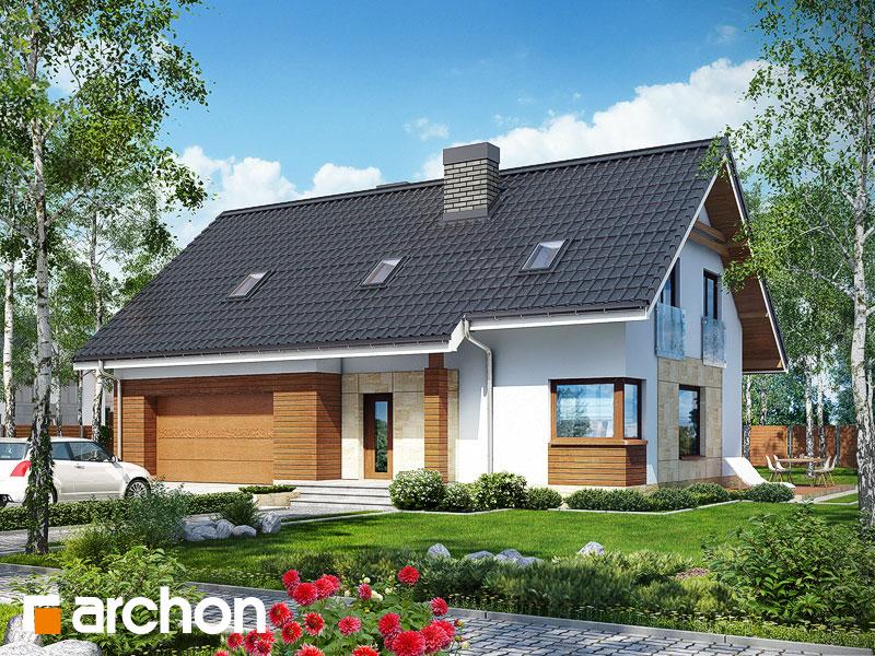 Проект будинку ARCHON+ Будинок в яблонках (Г2) Вид 1
