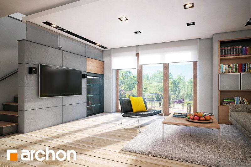 Проект дома ARCHON+ Дом в яблонках (Г2) дневная зона (визуализация 1 вид 1)