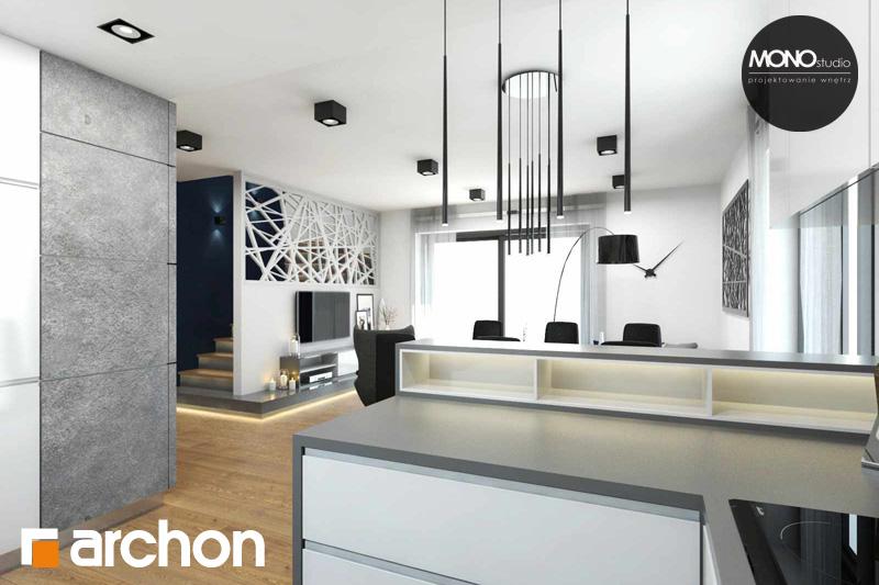 Проект будинку ARCHON+ Будинок в яблонках (Г2) денна зона (візуалізація 2 від 5)