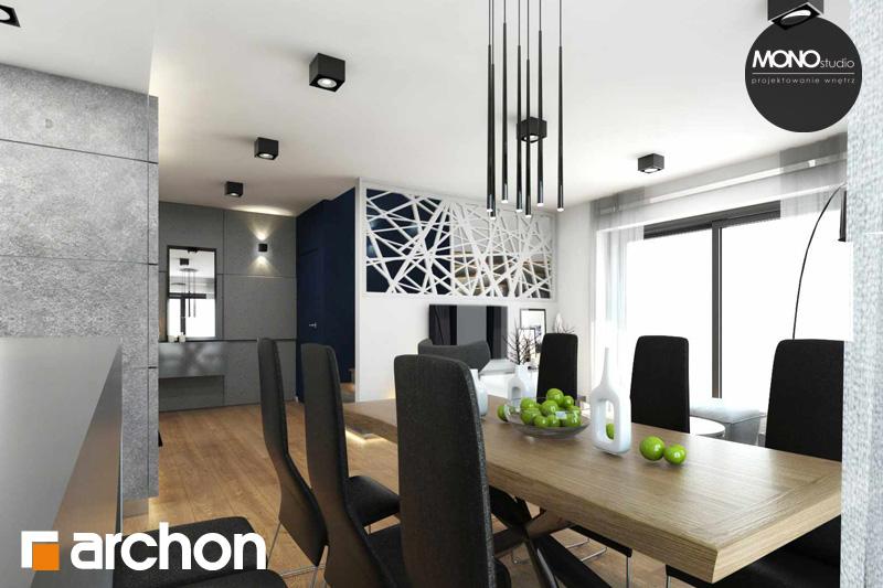 Проект дома ARCHON+ Дом в яблонках (Г2) дневная зона (визуализация 2 вид 6)