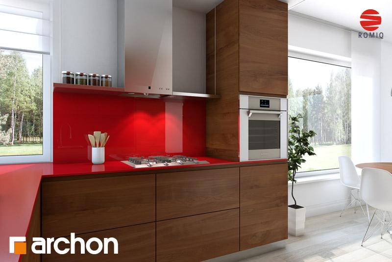 Проект дома ARCHON+ Дом в журавках (Г2) аранжировка кухни 2 вид 3