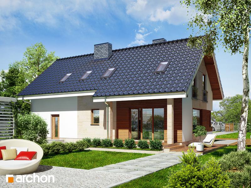 Проект будинку ARCHON+ Будинок в журавках (Г2) стилізація 4