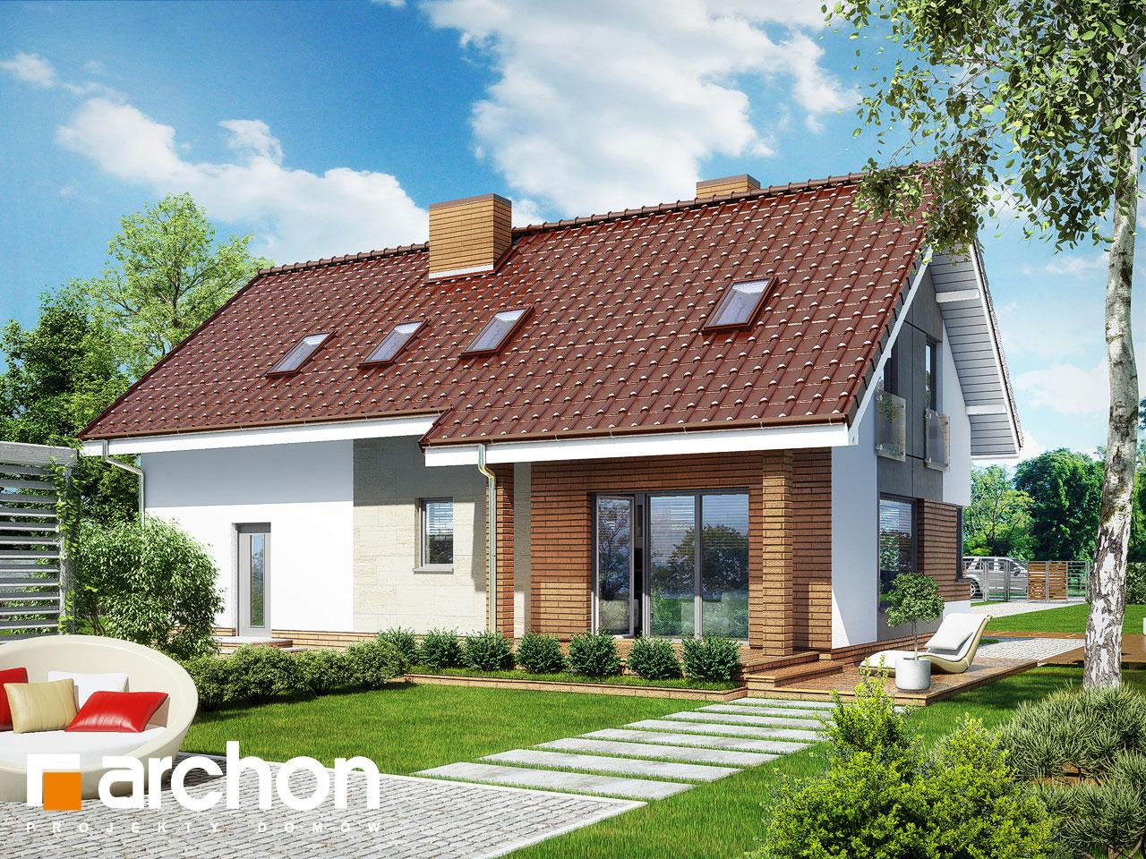Проект будинку ARCHON+ Будинок в журавках (Г2) Вид 2