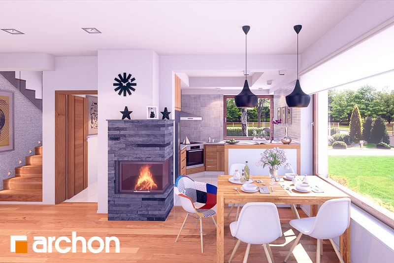 Проект дома ARCHON+ Дом в журавках (Г2) дневная зона (визуализация 2 вид 1)