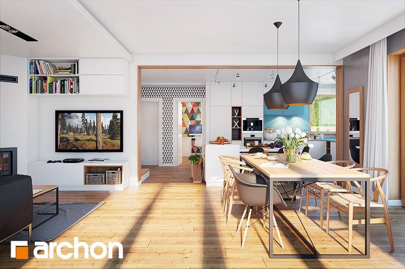 Проект будинку ARCHON+ Будинок в алоізіях денна зона (візуалізація 1 від 2)