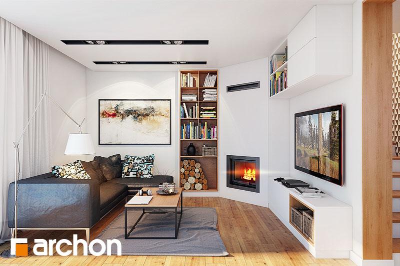 Проект будинку ARCHON+ Будинок в алоізіях денна зона (візуалізація 1 від 3)