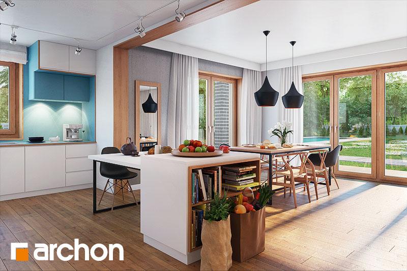 Проект будинку ARCHON+ Будинок в алоізіях денна зона (візуалізація 1 від 4)
