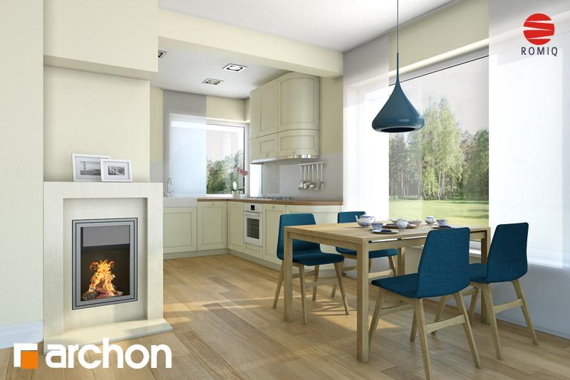 Проект дома ARCHON+ Дом в журавках (П) аранжировка кухни 1 вид 1