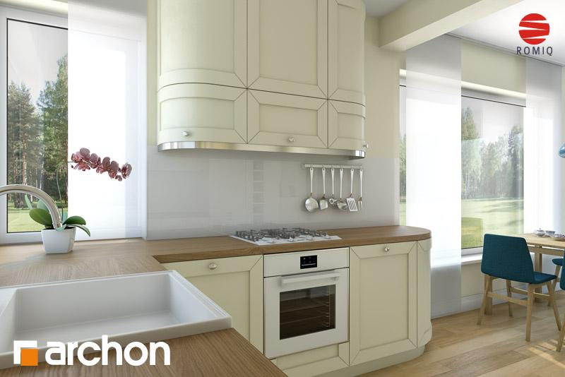 Проект дома ARCHON+ Дом в журавках (П) аранжировка кухни 1 вид 2