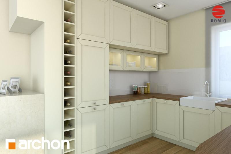 Проект дома ARCHON+ Дом в журавках (П) аранжировка кухни 1 вид 3