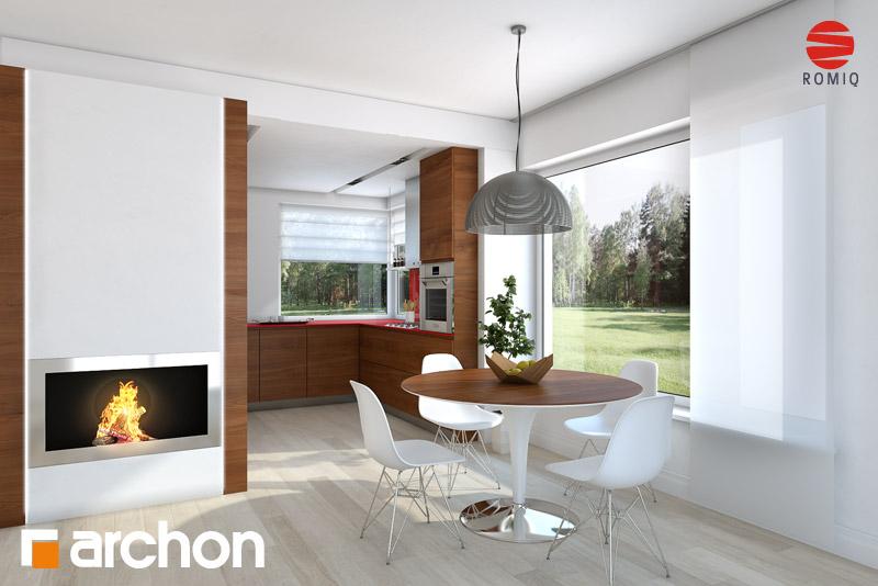 Проект дома ARCHON+ Дом в журавках (П) аранжировка кухни 2 вид 1